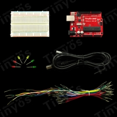 Starter Prototyping kit with Tosduino UNO R3 (Arduino-compatible)