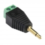 Mono Audio Jack to Screw Terminal Adapter