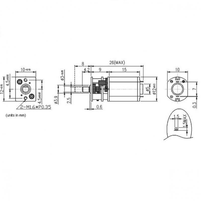 micro metal gearmotor 0 35a