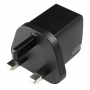 USB Wall Charger 5V DC 1.35A - UK Plug