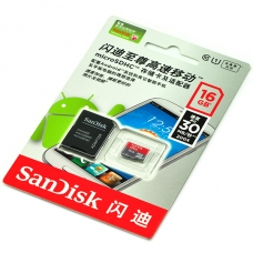 MicroSD Card with Adapter - 16GB/Class 10