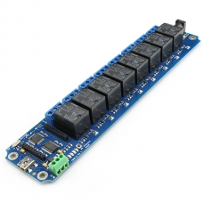 TOSR180 - 8 Channel USB/Wireless 5V Relay - (Password/Momentary/Latching)