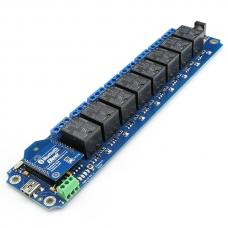 TOSR181 - 8 Channel Smartphone Bluetooth Relay - (Password/Momentary/Latching)