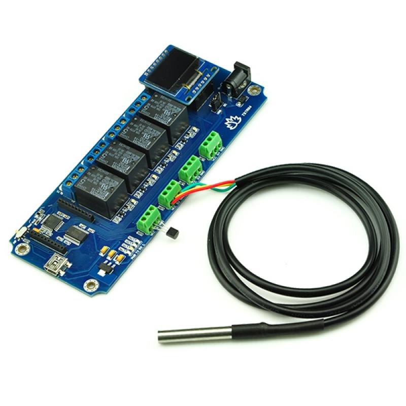 Tstr04 4 Channel Outputs 4 Temperature Sensors Usb Relay