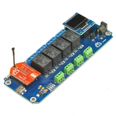 TSTR04 - 4 Channel Outputs 4 Temperature Sensors WiFi Smartphone Relay (Thermostats)