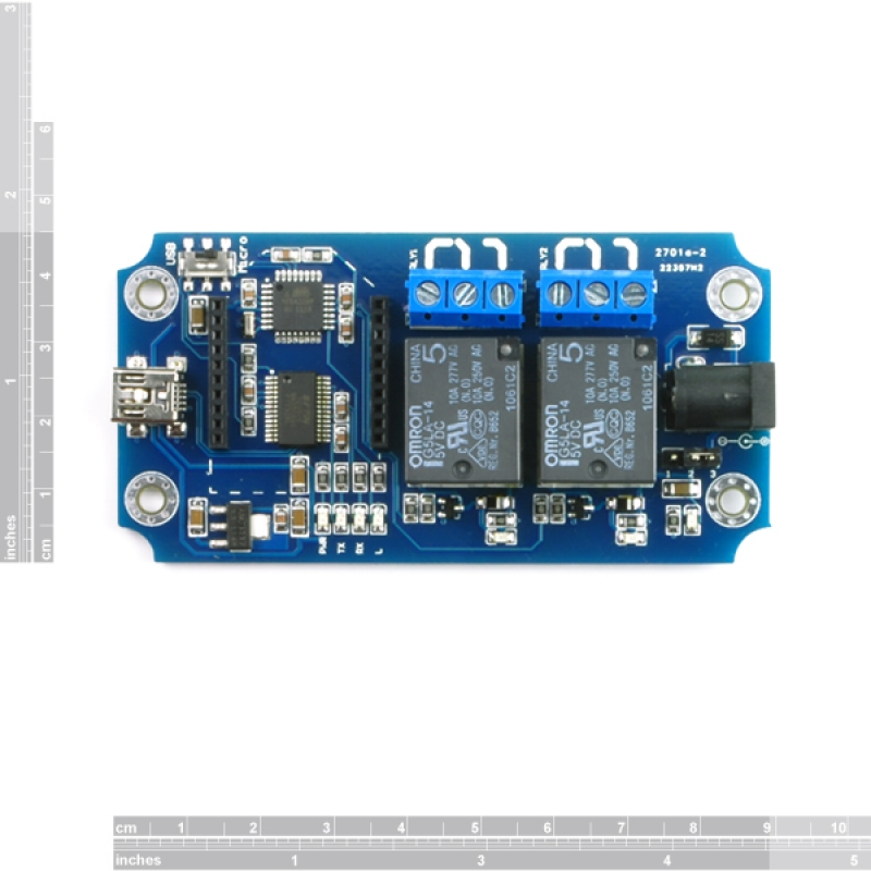 TOSR02 - 2 Channel Smartphone Bluetooth Relay Kit - (Andorid