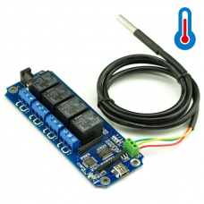 TOSR04-T - 4 Channel USB/Wireless 5V Relay Module with DS18B20