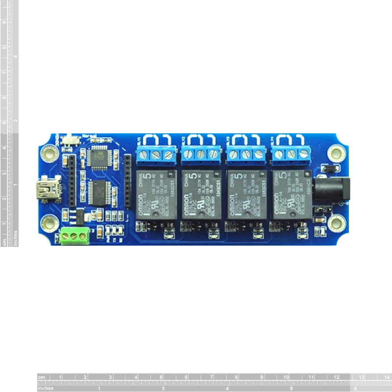 4 Channel USB//Wireless Relay WIFI IOS//Android Control Kit +Temperature DS18B20