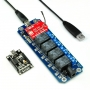 TOSR04 - 4 Channel Smartphone Relay WIFI Remote Control Kit