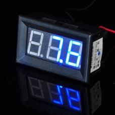 Blue LED Digital Voltmeter DC 3.2V - 30V