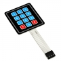 Sealed Membrane 3*4 button pad with sticker