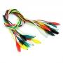 Alligator/Crocodile clips Test Leads - Multicolored 10 PCS Pack