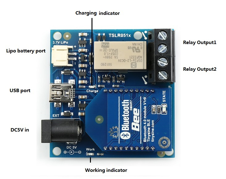 TSLR0511 - 1 Channel Smartphone Bluetooth Bistable Relay