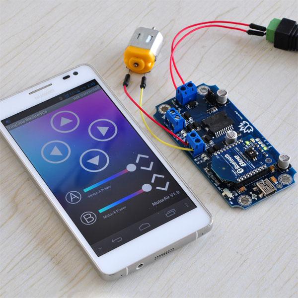 MotorAir - Bluetooth Dual Motor Driver Smartphone Remote
